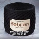 Трикотажная пряжа Bobilon (Бобилон) MICRO 3-5 мм черный 688