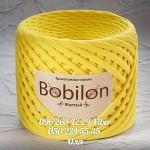 Трикотажная пряжа Bobilon (Бобилон) MICRO 3-5 мм желтый 703