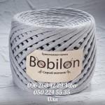 Трикотажная пряжа Bobilon (Бобилон) MICRO 3-5 мм серый меланж 704