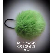 Помпон из меха кролика цвет зелёный, артикул 105