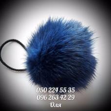 Помпон из меха кролика цвет т.синий, артикул 114