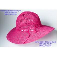 Летняя женская шляпа розового цвета, артикул 01