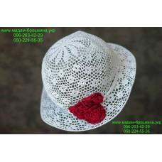 Летняя женская шляпа белого цвета, артикул 02