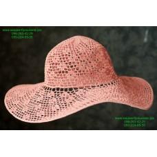 Летняя женская шляпа бледно-розового цвета, артикул 03