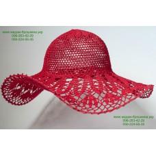 Летняя женская шляпа красного цвета, артикул 04