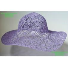 Летняя женская шляпа сиреневого цвета, артикул 05