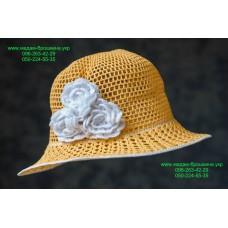 Летняя женская шляпа желтого цвета, артикул 07