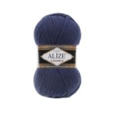 Пряжа смесовая Alize Lanagold, цвет черника, артикул 215