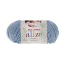 Пряжа Alize Baby Wool голубой 350
