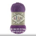 Пряжа Alize Bella цвет темно фиолетовый 45