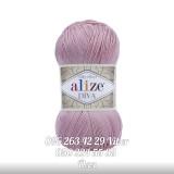 Пряжа Alize Diva микрофибра-акрил нежная-роза 363