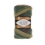 Пряжа Alize Lanagold Batik ( Ализе ланаголд батик) цвет (№3344)