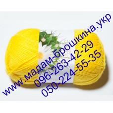 Пряжа Акрил №10, цвет банан, артикул 97002