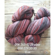 Пряжа Artistic (Артистик), цвет коричнево-розовый, артикул 087a