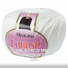 Пряжа Alpacana (Альпакана), цвет белый, артикул 3000