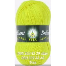 Пряжа Vita Brilliant (Бриллиант), цвет желто-салатовый, артикул 5101