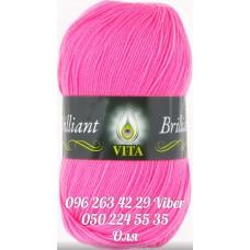 Пряжа Vita Brilliant (Бриллиант), цвет Ярко-розовый, артикул 5102