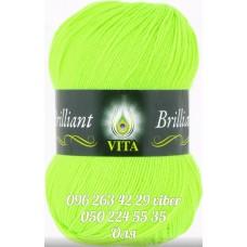 Пряжа Vita Brilliant (Бриллиант), цвет ярко-салатовый, артикул 5103