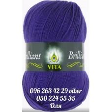 Пряжа Vita Brilliant (Бриллиант), цвет темно-фиолетовый, артикул 5105