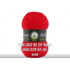 Пряжа Vita Brilliant (Бриллиант), цвет светло-красный, артикул 5107