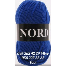 Пряжа Vita Nord (Норд), цвет синий-электрик, артикул 4765