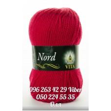 Пряжа Vita Nord (Норд), цвет темно-красный, артикул 4758