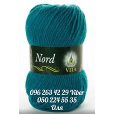 Пряжа Vita Nord (Норд), цвет темна-бирюза, артикул 4776