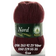 Пряжа Vita Nord (Норд), цвет бордовый, артикул 4777