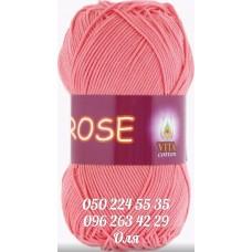 Пряжа Vita Cotton Rose (Розе), цвет розовый коралл, артикул 3905