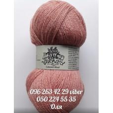 Пряжа Кольорова вовна, цвет розовый, артикул 80101