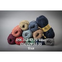 Пряжа украинская Цветная шерсть из букле, 280 м, 100 гр
