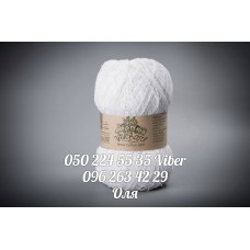 Украинская пряжаТМ Vivchari Ethno-Cotton  1200, цвет белый, артикул 001