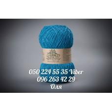 Пряжа смесовая летняя ТМ Vivchari Этно-Коттон 1200, цвет бирюзовый, артикул 004