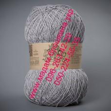 Пряжа смесовая летняя ТМ Vivchari Этно-Коттон 1200, цвет серый, артикул 017
