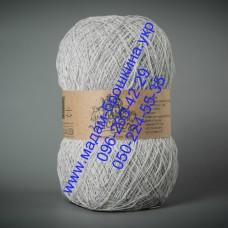 Пряжа смесовая летняя ТМ Vivchari Этно-Коттон 1500, цвет светло-серый, артикул 103