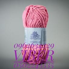 Пряжа Cottonel 65 (Котонель 65), цвет ярко-розовый, артикул 03010