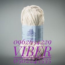 Пряжа Cottonel 65 (Котонель 65), цвет молочный, артикул 03002