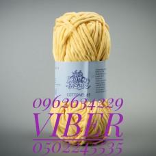 Пряжа Cottonel 65 (Котонель 65), цвет желтый, артикул 03003