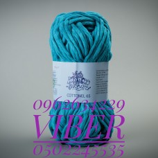 Пряжа Cottonel 65 (Котонель 65), цвет бирюзовый, артикул 03007