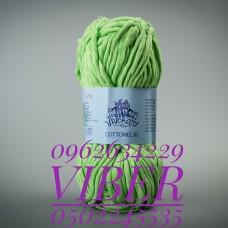 Пряжа Cottonel 65 (Котонель 65), цвет салатовый, артикул 03008