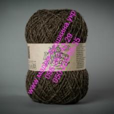 Пряжа шерстяная ТМ Vivchari Этно-Натура, цвет коричневый, артикул 205