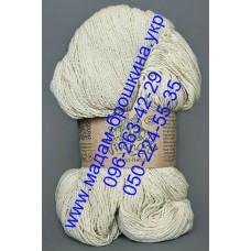 Пряжа шерстяная ТМ Vivchari Этно-Натура, цвет белый, артикул 601