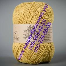 Пряжа смесовая зимняя ТМ Vivchari Semi-Wool, цвет желтый, артикул 402