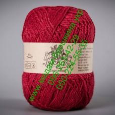 Пряжа смесовая зимняя ТМ Vivchari Semi-Wool, цвет красный, артикул 403
