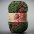Полушерсятная пряжа ТМ Vivchari Semi-Wool, цвет оливковый (№406)
