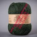 Полушерсятная пряжа ТМ Vivchari Semi-Wool, цвет темно-зеленый (№407)