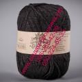 Полшерсятная пряжа ТМ Vivchari Semi-Wool, цвет черный (№412)