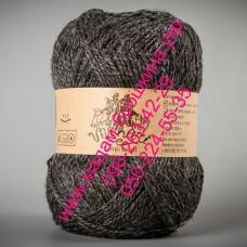 Пряжа смесовая зимняя ТМ Vivchari Semi-Wool, цвет антрацит, артикул 306