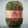 Пряжа полушерсть с ангорой  ТМ Vivchari Semi-Wool, цвет оливковый (№307)