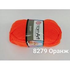 Пряжа классическая детская Baby YarnArt, цвет оранж, артикул 8279